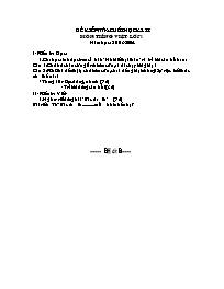 Đề kiểm tra cuối học kì II các môn Toán, Tiếng Việt Lớp 1