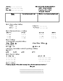 Đề kiểm tra giữa học kì I môn Toán, Tiếng Việ