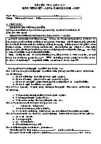 Đề kiểm tra giữa học kì I môn Toán, Tiếng Việt Lớp 5 (Có đáp án)