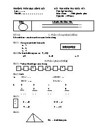 Đề thi kiểm tra giữa học kì I Lớp 2 - Năm học