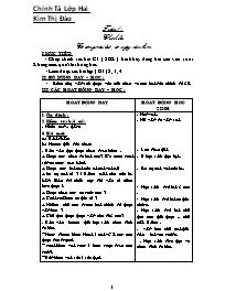 Giáo án Chính tả Lớp hai - Kim Thị Đào