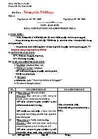 Giáo án Đạo đức học Lớp 2 - Năm 2010 - Đỗ Ngọ