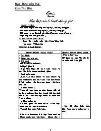 Giáo án môn Đạo đức lớp 2 - Kim Thị Đào