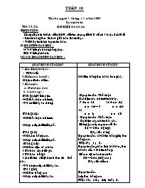 Giáo án Tổng hợp các môn Lớp 2 - Tuần 10 - Nă