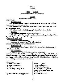 Giáo án Tổng hợp các môn Lớp 5 - Tuần 11 - Nă