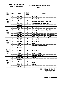 Giáo án Tổng hợp các môn học Lớp 2 - Tuần 27