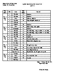 Giáo án Tổng hợp các môn học Lớp 2 - Tuần 28