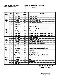Giáo án Tổng hợp các môn học Lớp 2 - Tuần 29