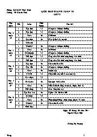 Giáo án Tổng hợp các môn học Lớp 2 - Tuần 30