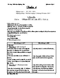Giáo án Tổng hợp các môn học Lớp 2 - Tuần 4 -