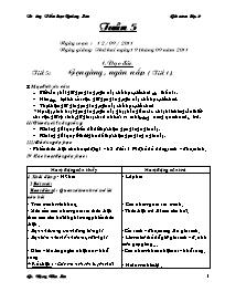 Giáo án Tổng hợp các môn học Lớp 2 - Tuần 5 -