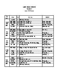 Giáo án Tổng hợp các môn học Lớp 2 - Tuần 7 -