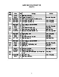 Giáo án Tổng hợp các môn học Lớp 2 - Tuần thứ