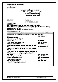 Giáo án Tổng hợp các môn Lớp 2 - Tuần 33 - Ca