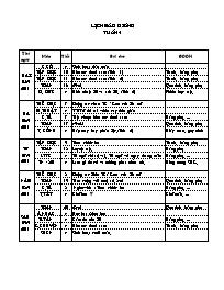 Giáo án Tổng hợp các môn Lớp 2 - Tuần 4 - Năm